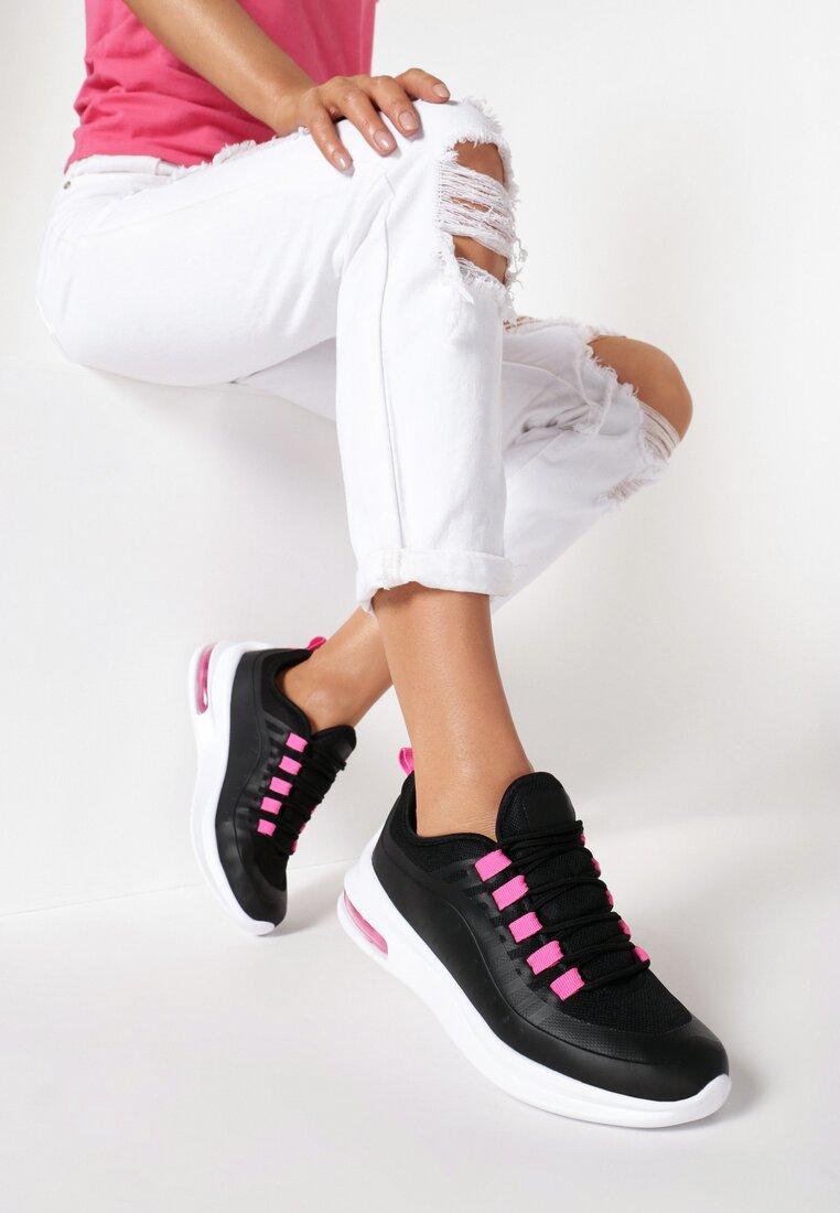 Czarno-Fuksjowe Sneakersy Calysise inny