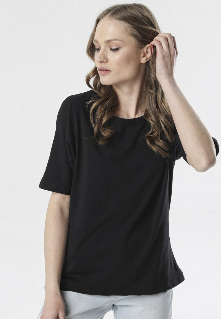 Czarny T-shirt Delofer other