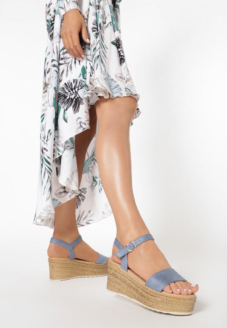 Niebieskie Sandały Thebel