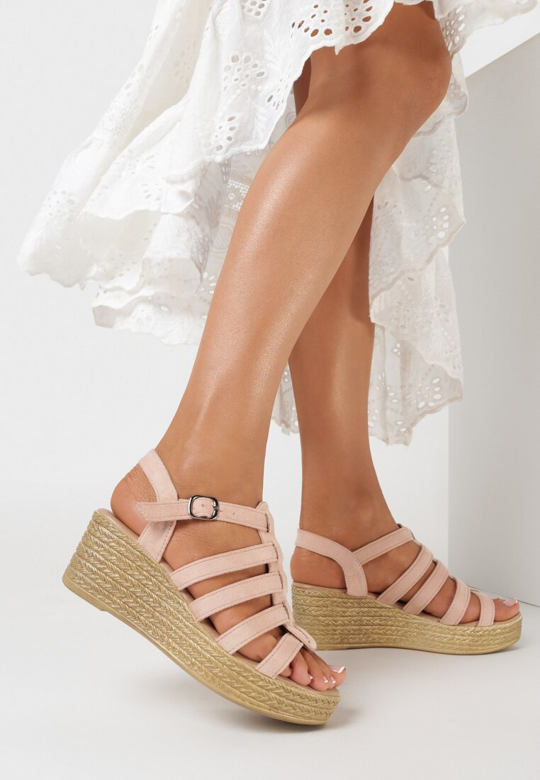 Różowe Sandały Metiorane