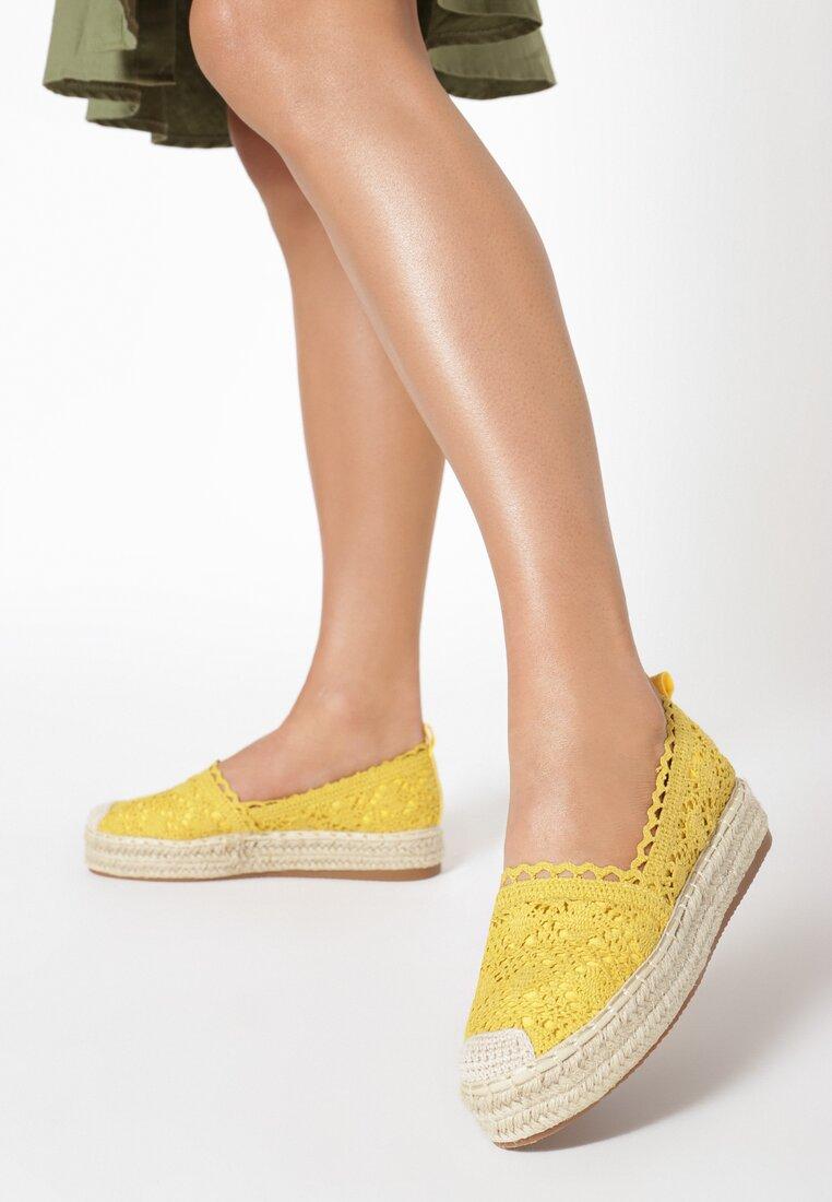 Żółte Espadryle Genirien