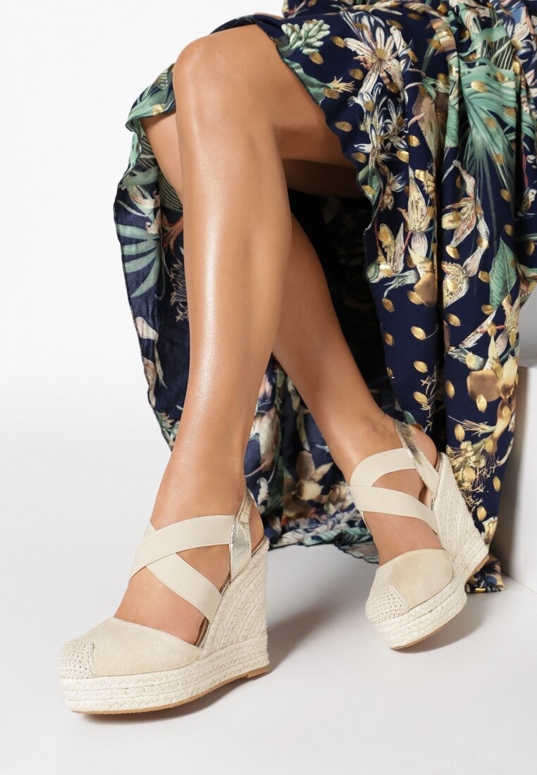 Beżowe Sandały Kimoronei