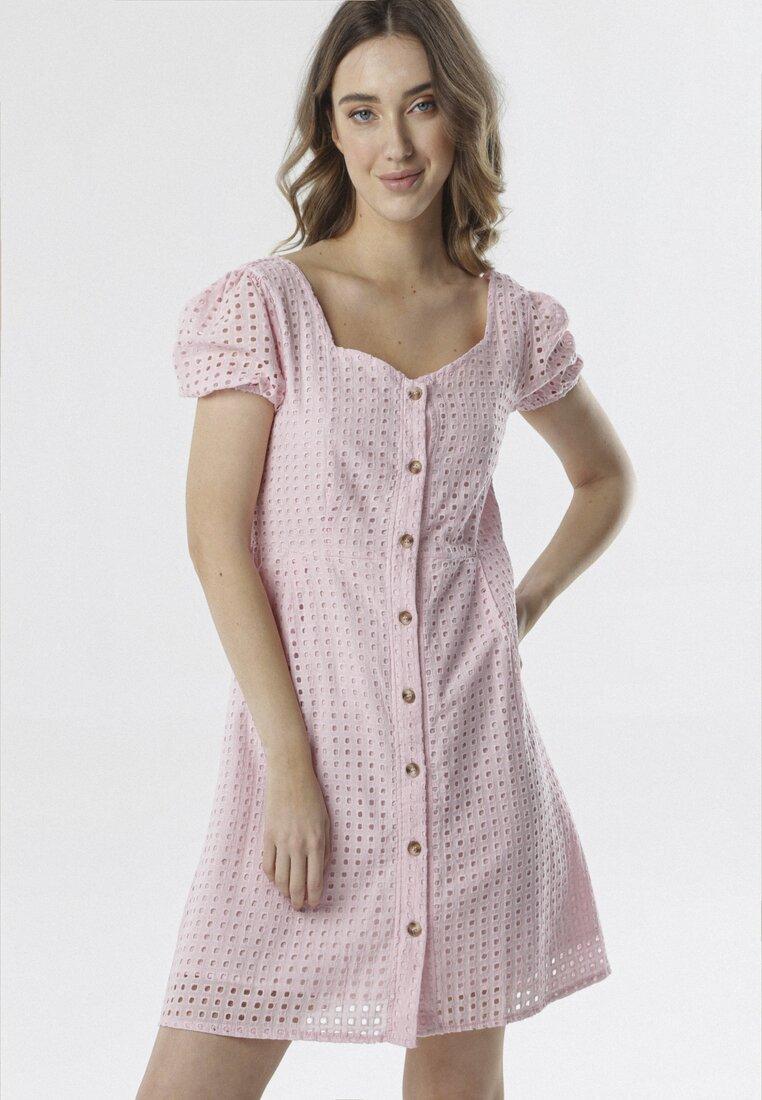 Jasnoróżowa Sukienka Pasimene