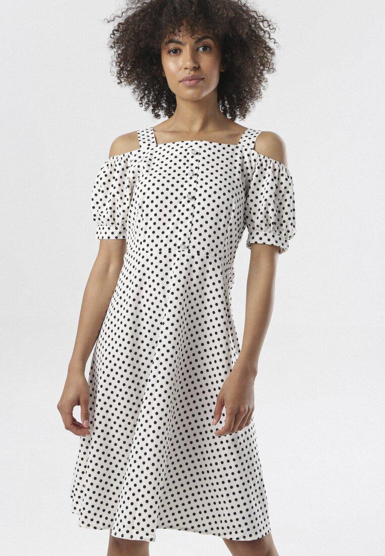 Biała Sukienka Talonne
