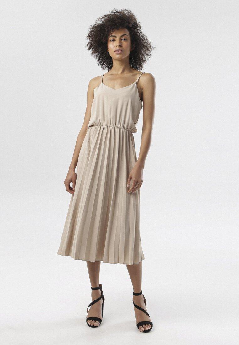 Beżowa Sukienka Phelise other