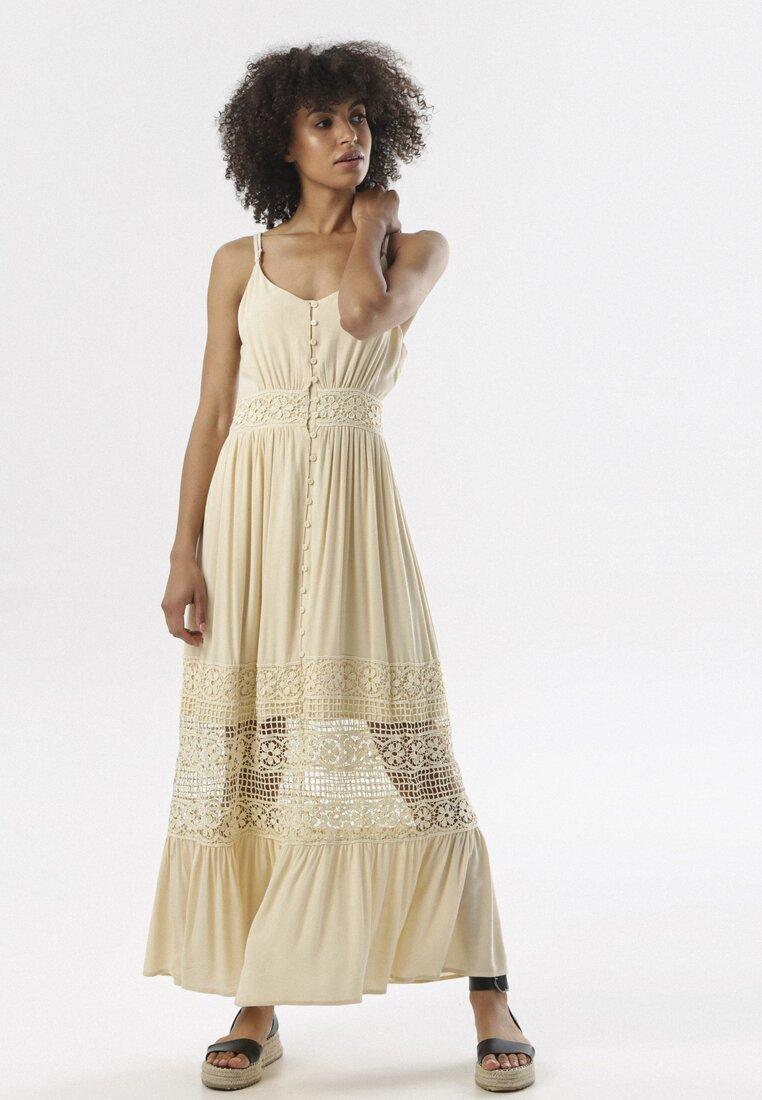 Jasnobeżowa Sukienka Diolyea other