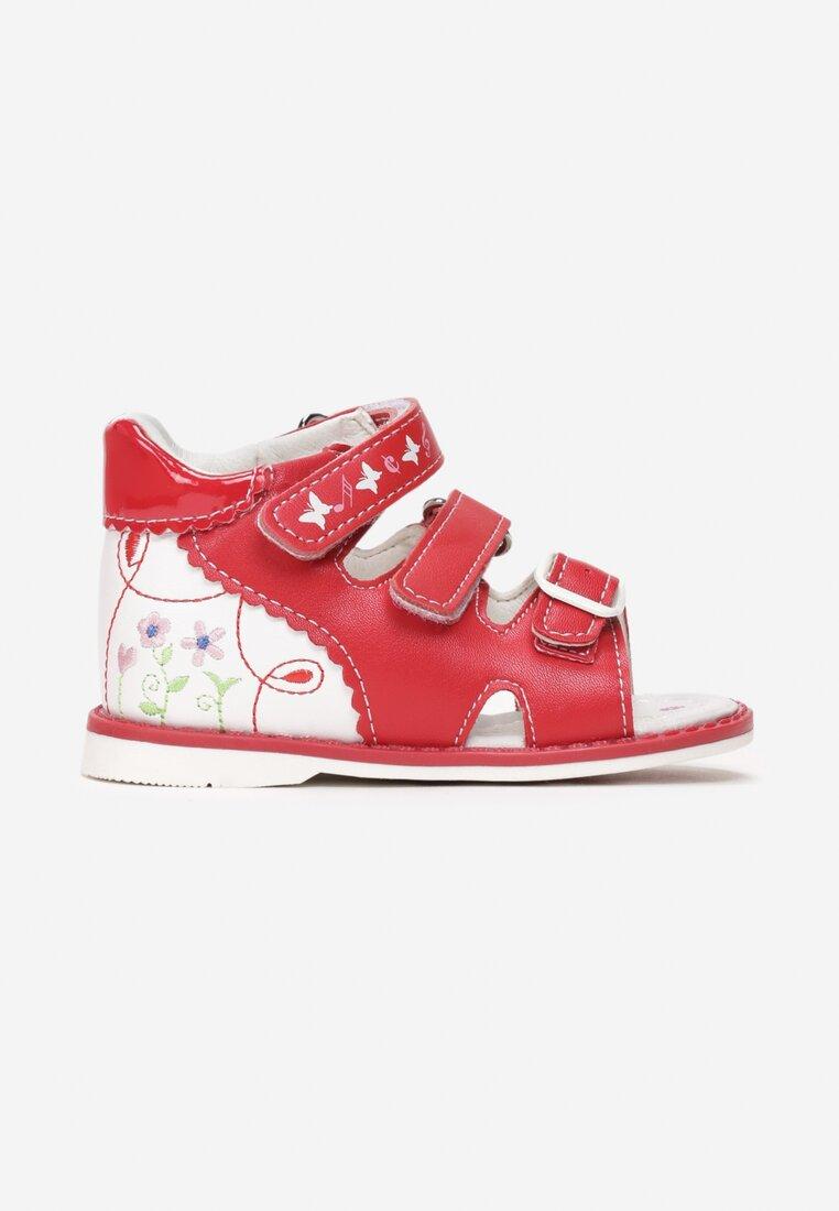 Czerwone Skórzane Sandały Thalalia inny
