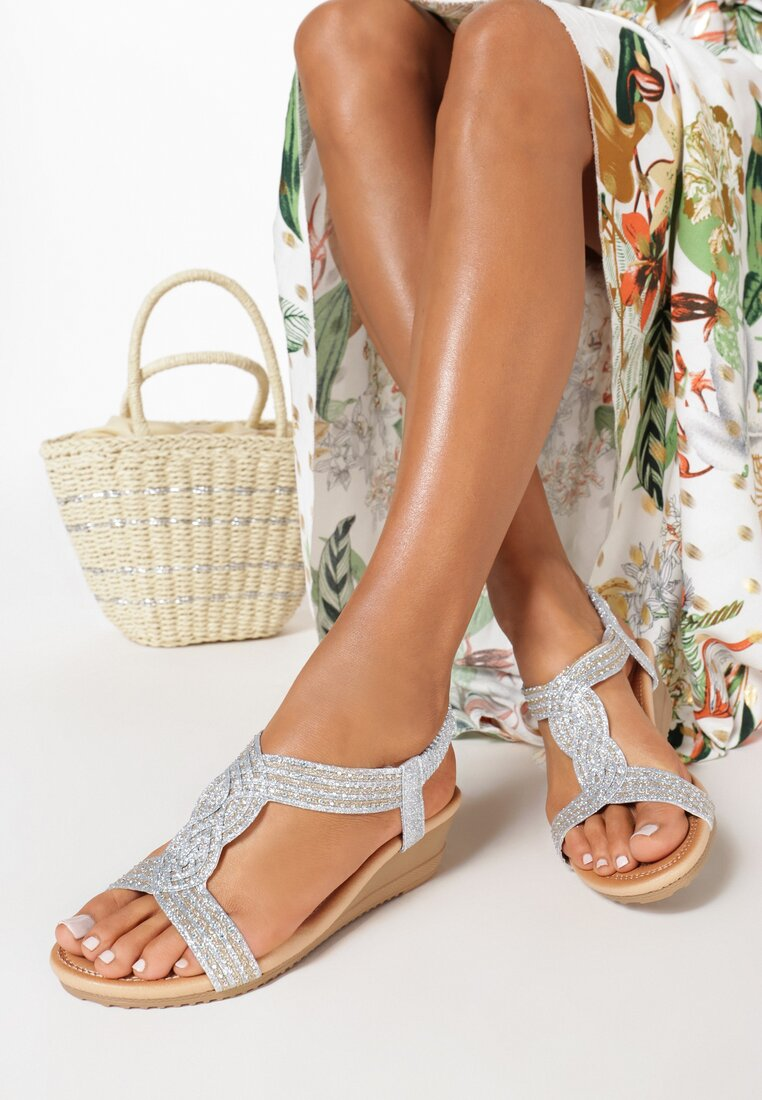 Srebrne Sandały Euphemeia