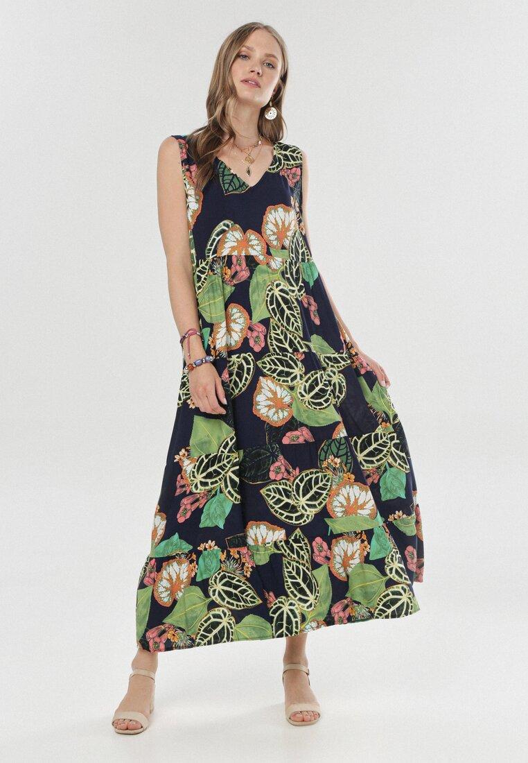 Granatowa Sukienka Evisiphe
