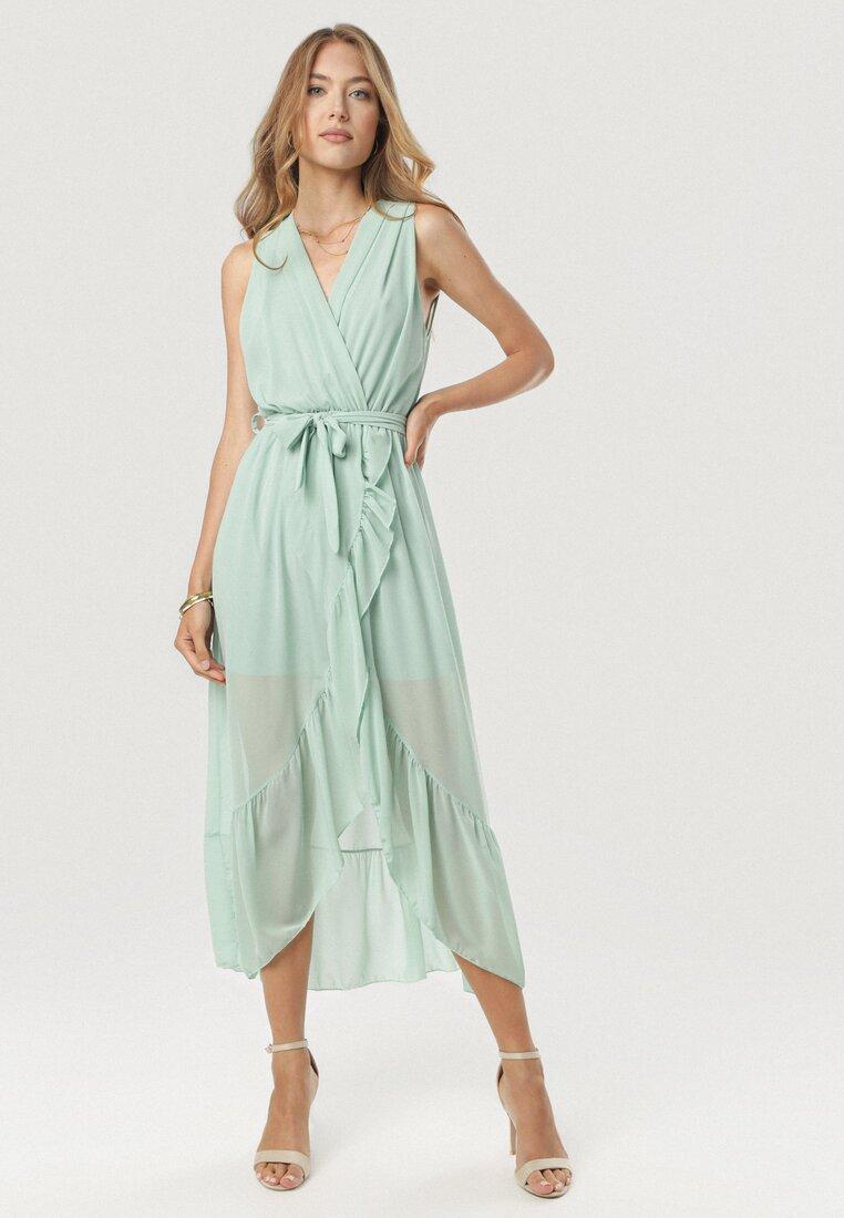 Jasnozielona Sukienka Morecea