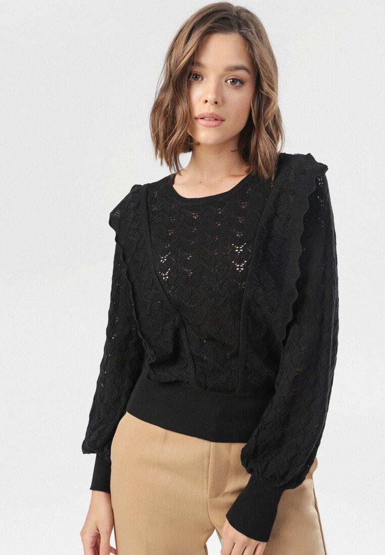 Czarny Sweter Arielina