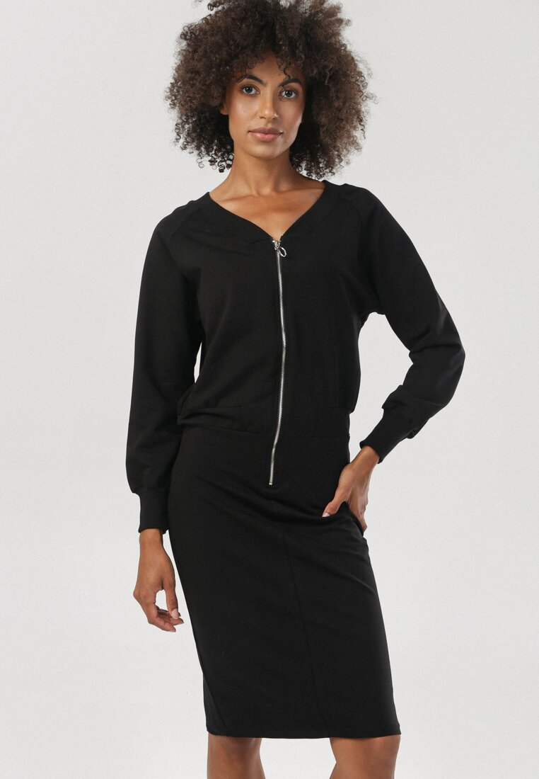 Czarna Sukienka Tinlyn