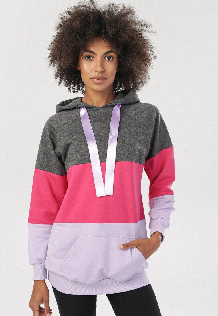 Szaro-Różowa Bluza Chania