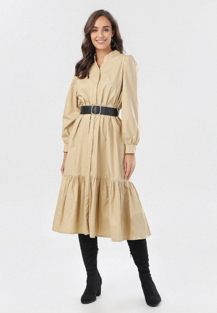 Beżowa Sukienka Farrel