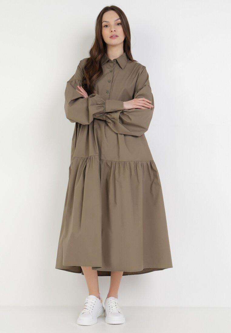 Ciemnozielona Sukienka Borenon
