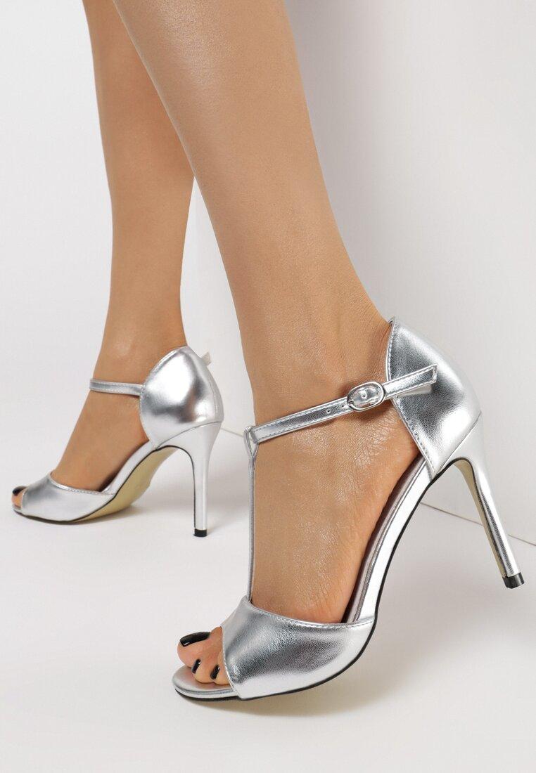 Srebrne Sandały Applesparkle