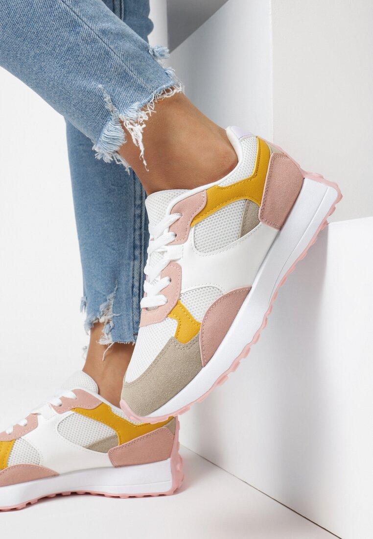 Różowe Sneakersy Cororane