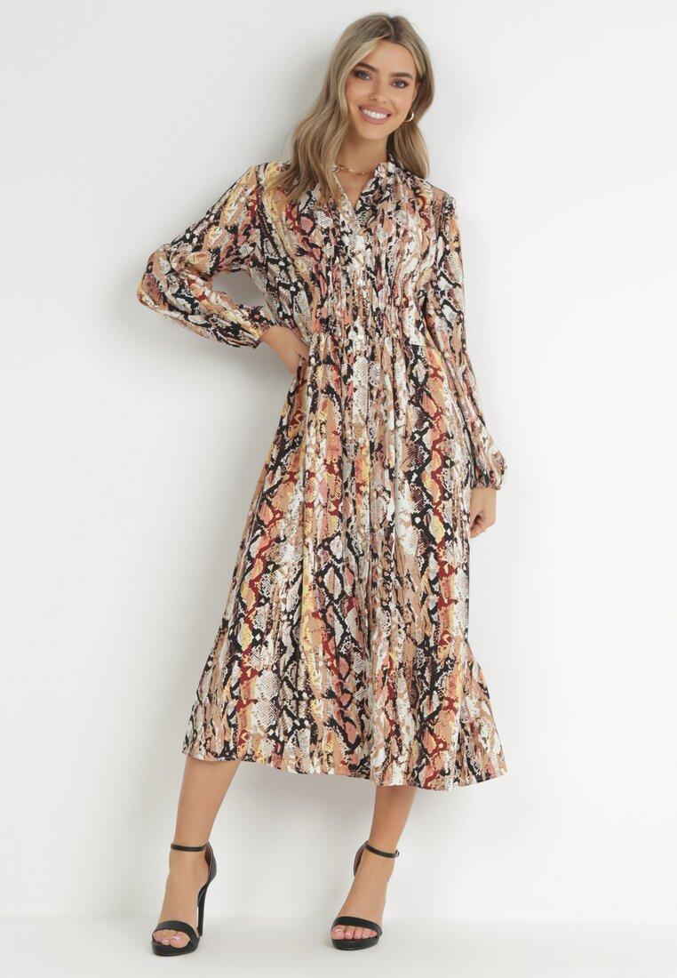 Beżowa Sukienka Leucanthe
