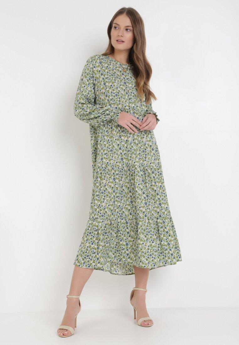 Jasnozielona Sukienka Amitiel