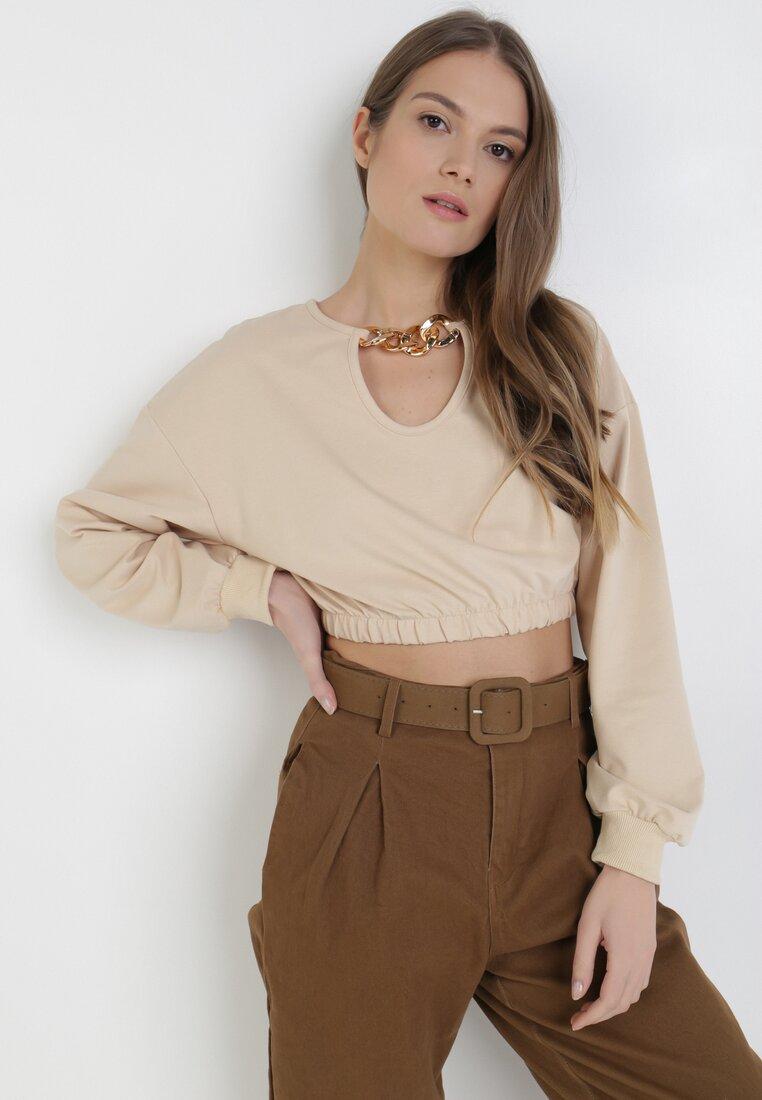 Beżowa Bluza Orineli