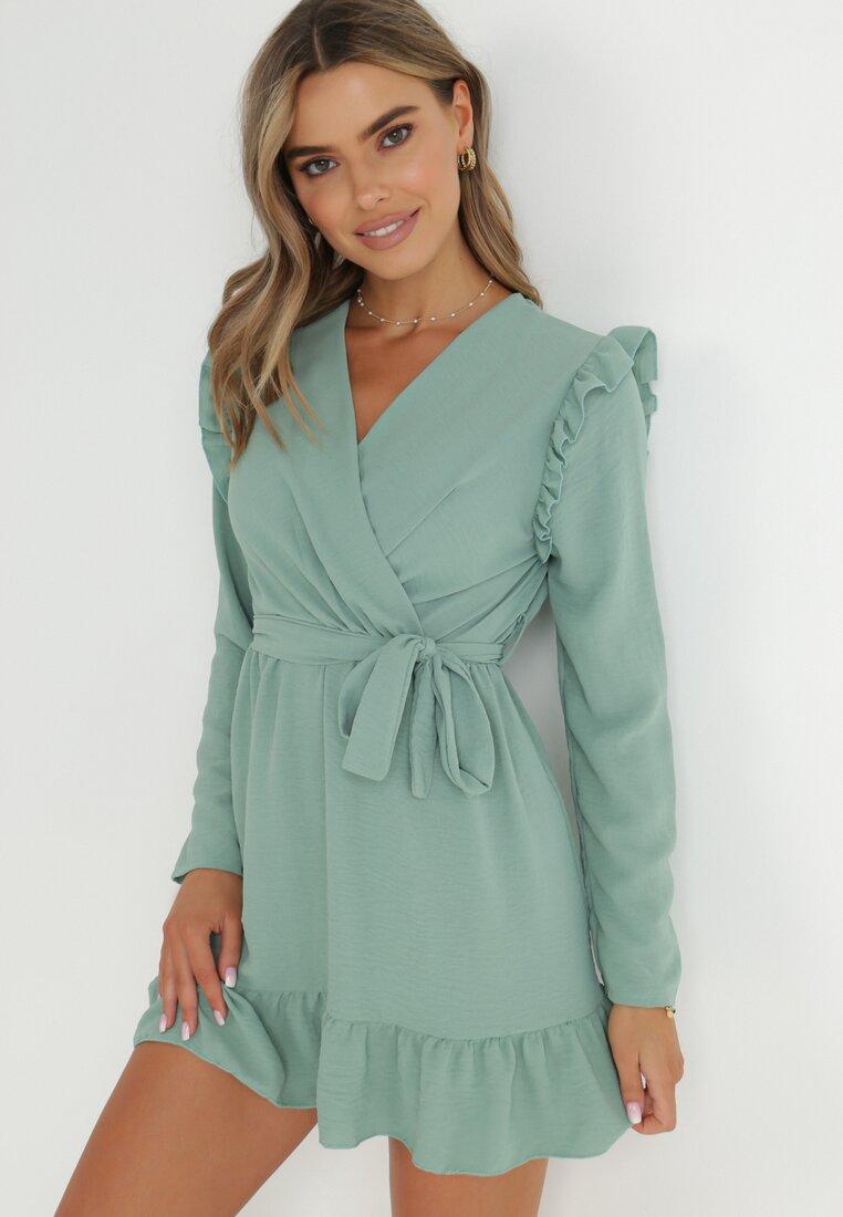 Miętowa Sukienka Salape