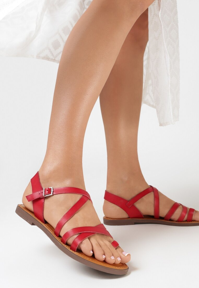 Czerwone Sandały Hinohre