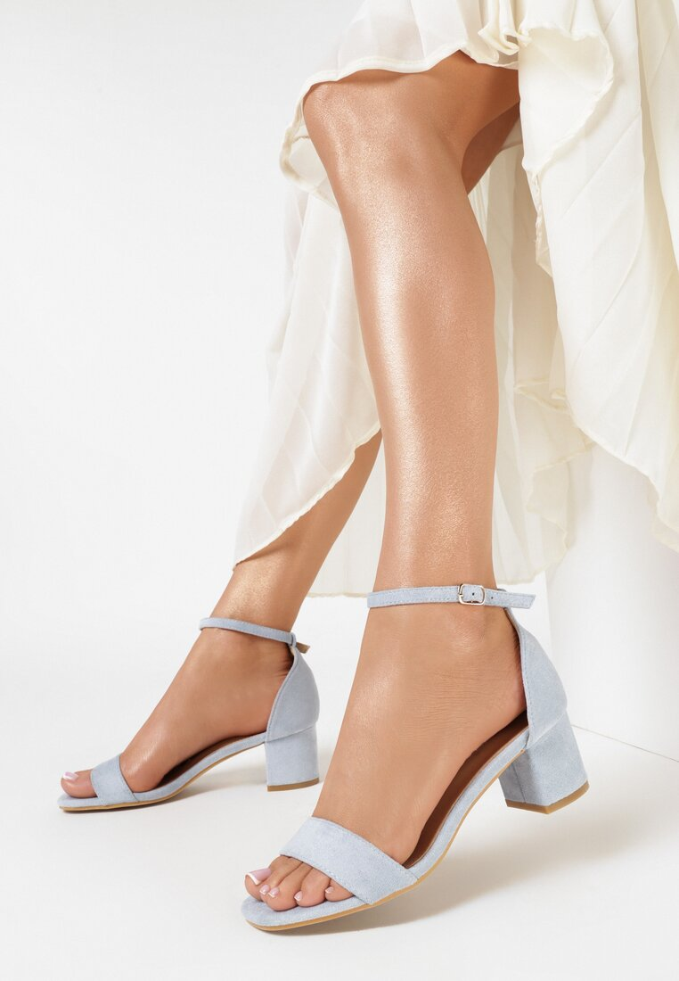 Niebieskie Sandały Salophis