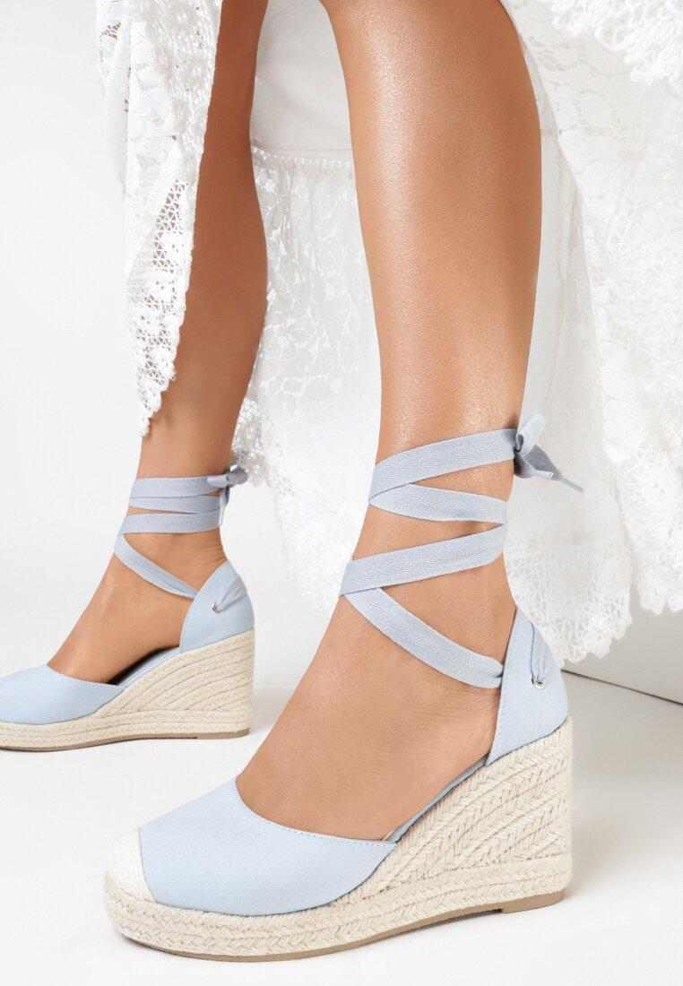 Niebieskie Sandały Orphali