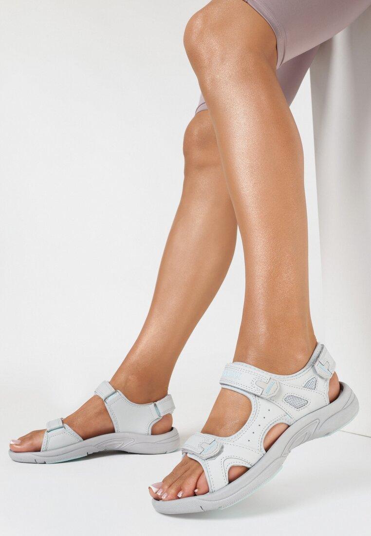 Szaro-Niebieskie Sandały Zhata