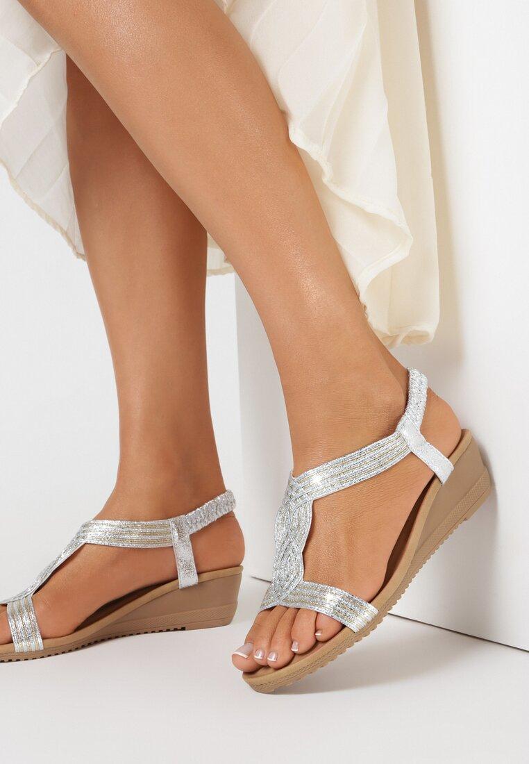 Srebrne Sandały Arilure
