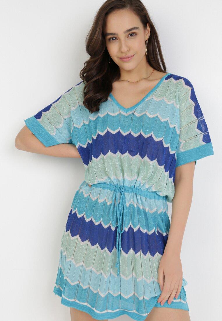 Niebieska Sukienka Acosalise