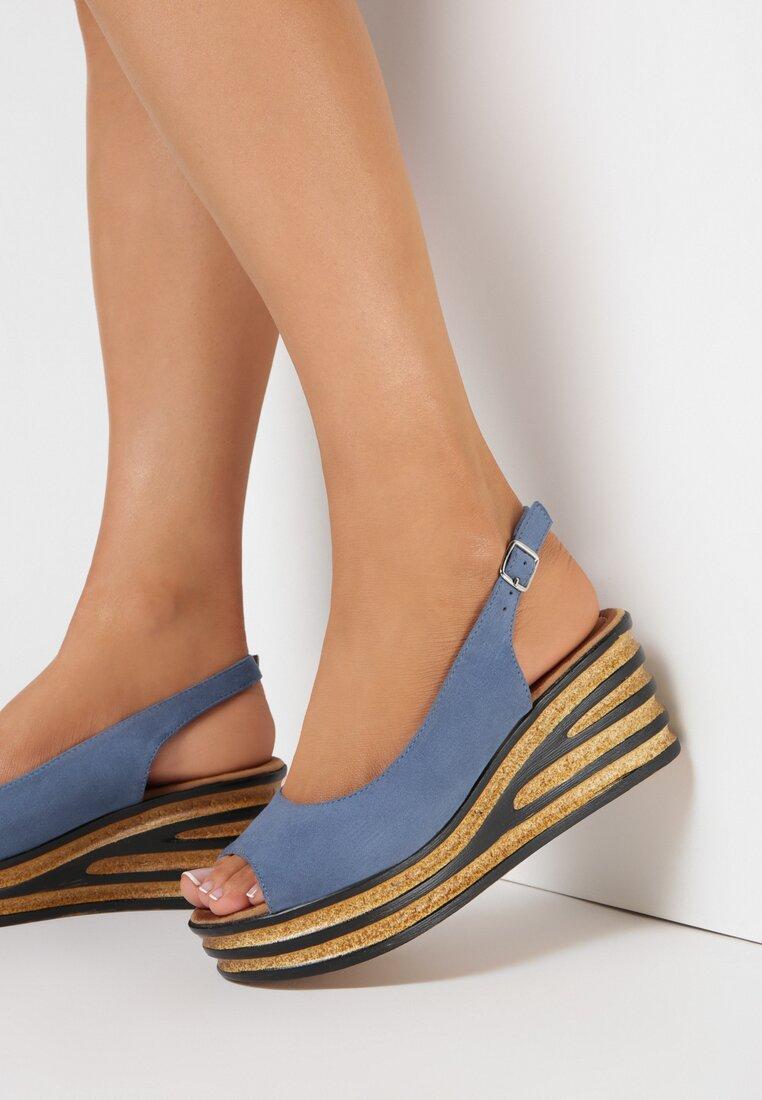 Niebieskie Sandały Bathixera