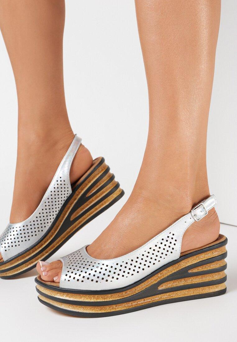 Srebrne Sandały Rhethosise