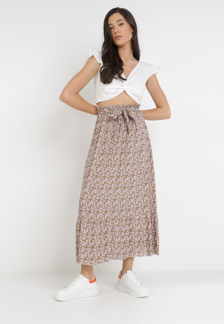 Khaki Spódnica Nysahria