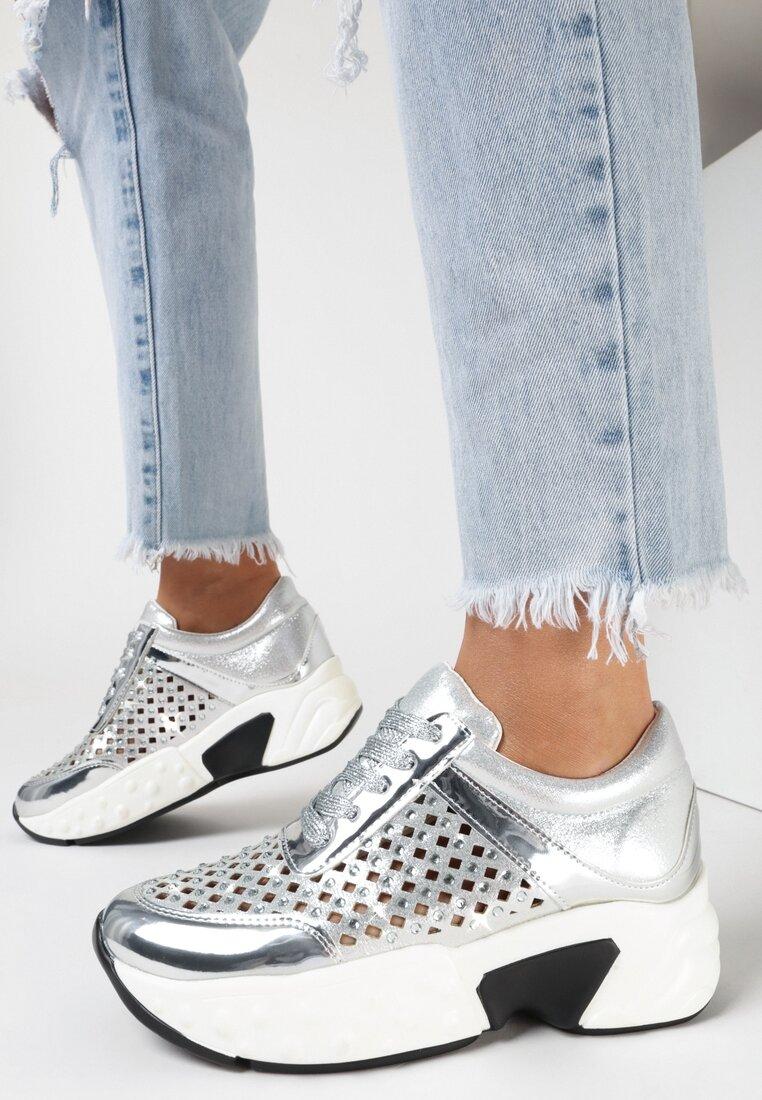 Srebrne Sneakersy Lithosi