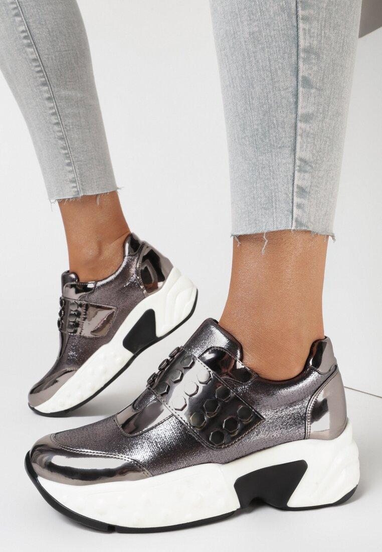 Srebrne Sneakersy Paphice