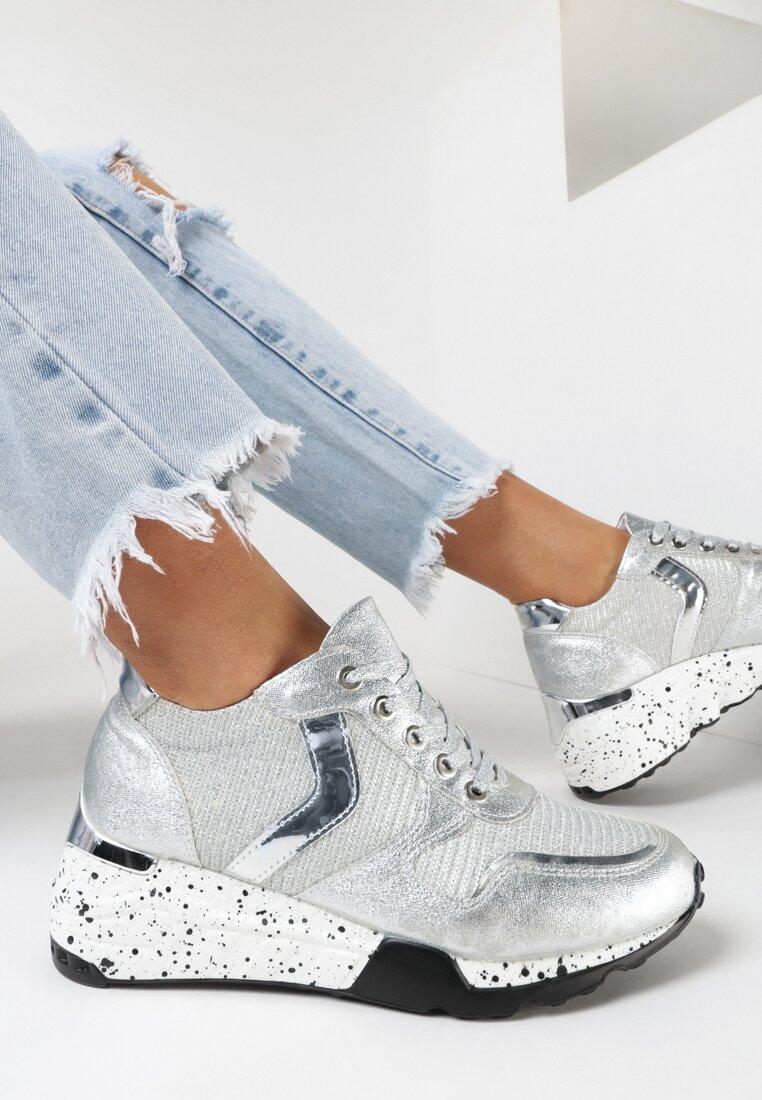 Srebrne Sneakersy Athizalphia