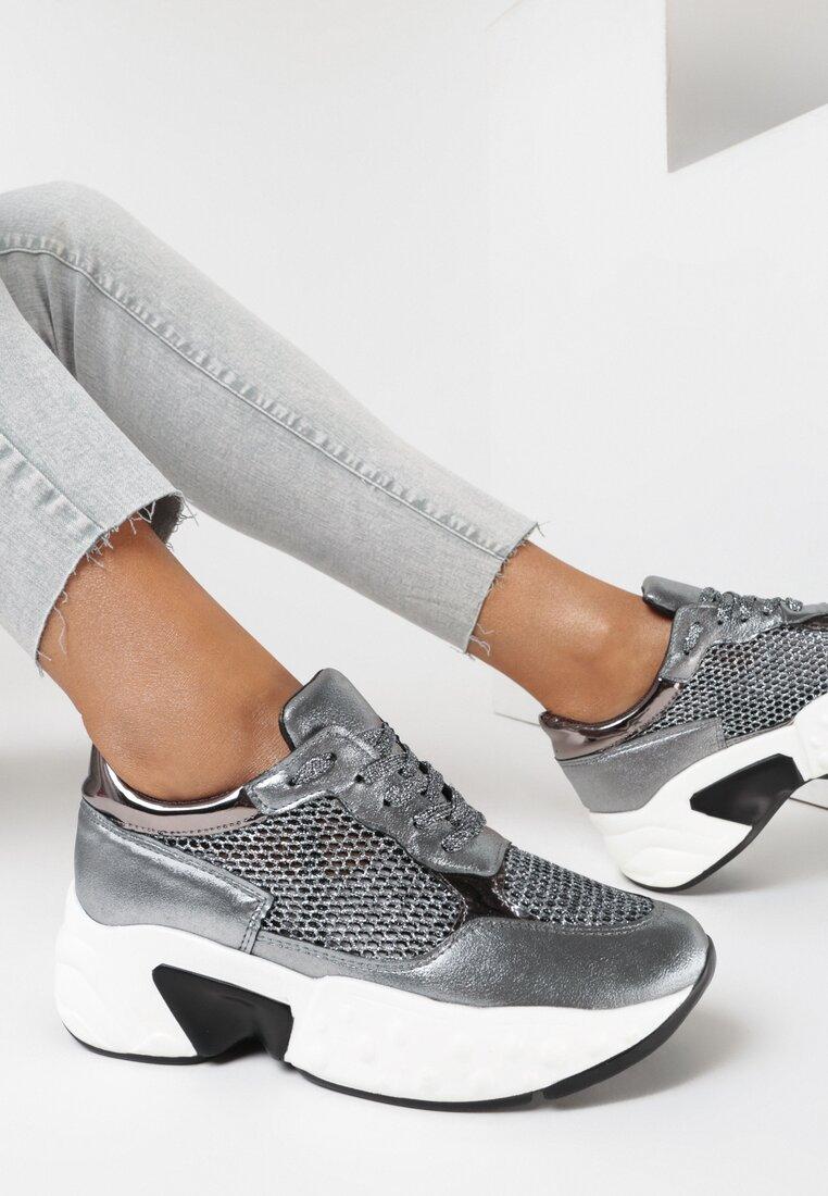 Srebrne Sneakersy Zephisia