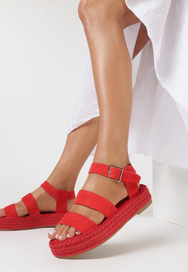 Czerwone Sandały Chritte
