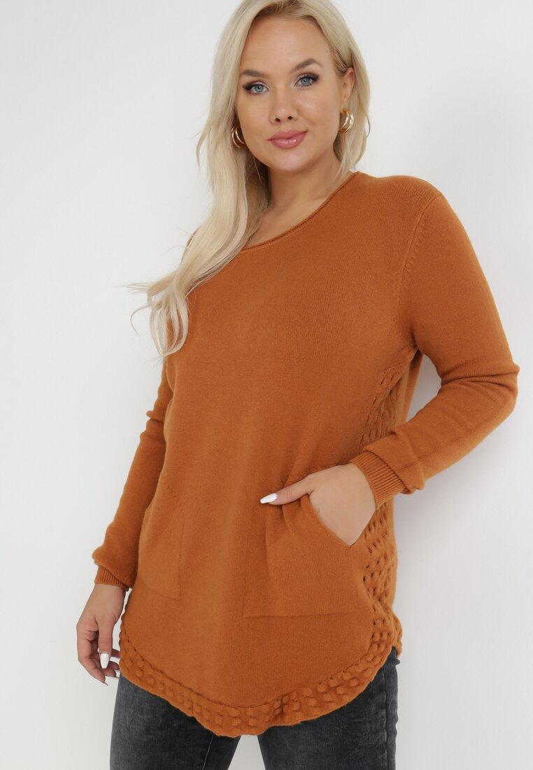 Brązowy Sweter Haidosa