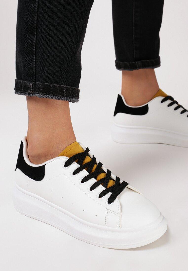 Biało-Żółte Sneakersy Chaballac