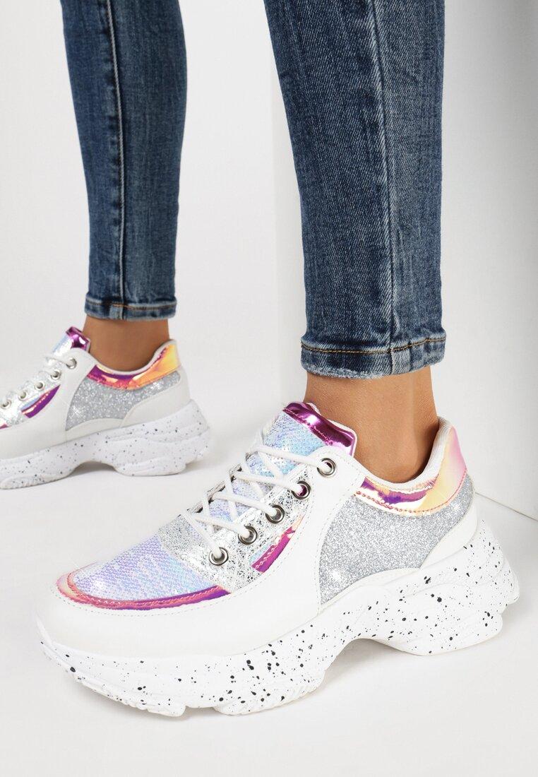 Srebrne Sneakersy Diovien