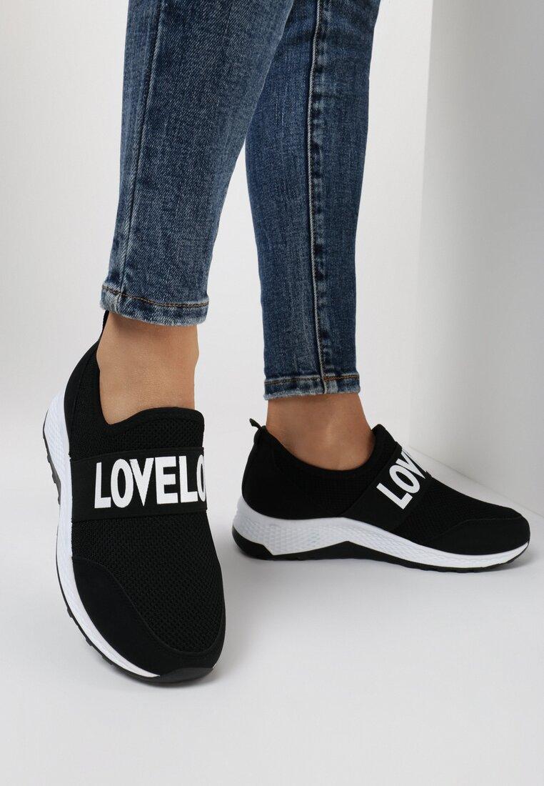 Czarne Sneakersy Aeleolane