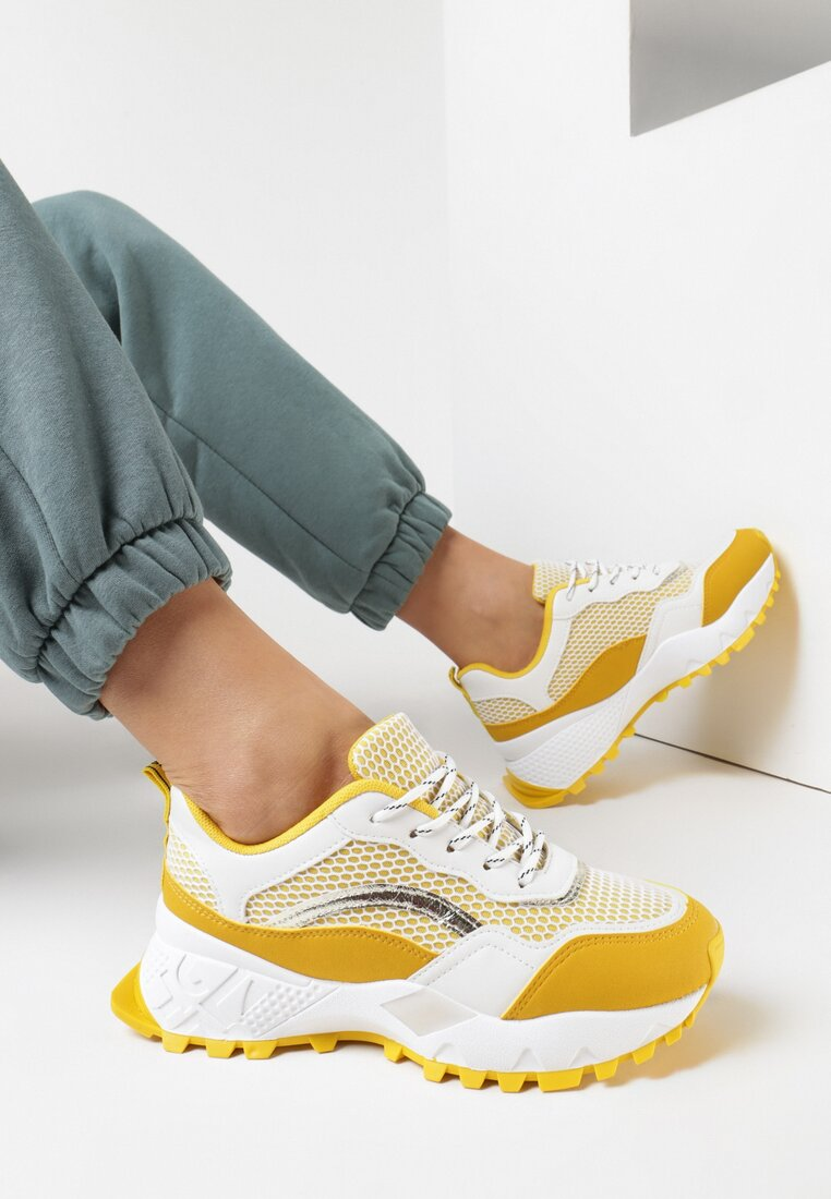 Żółte Sneakersy Augurs