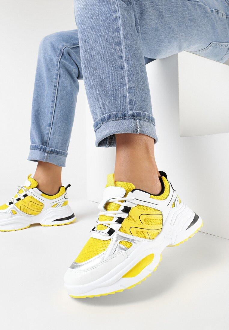 Biało-Żółte Sneakersy Elrinvia