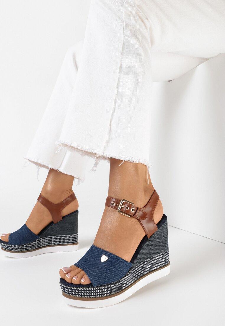 Niebieskie Sandały Thesedice