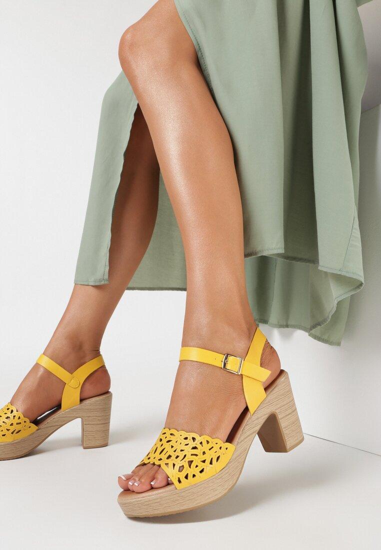 Żółte Sandały Theamalphia