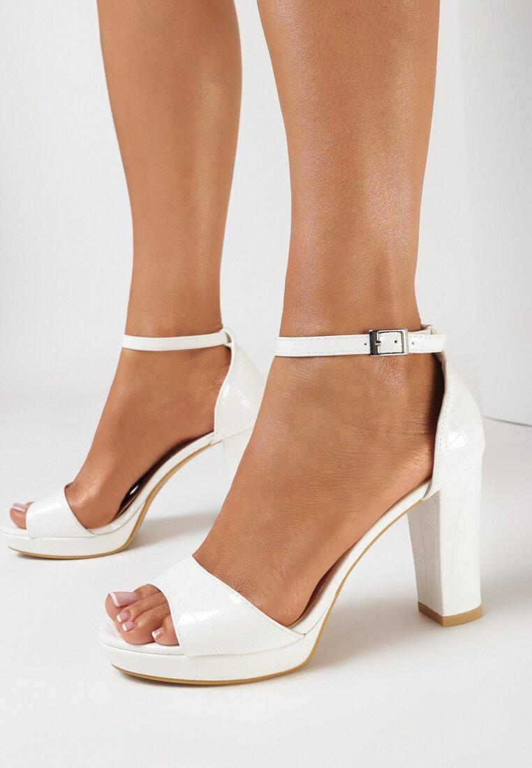 Białe Sandały Klephiphise