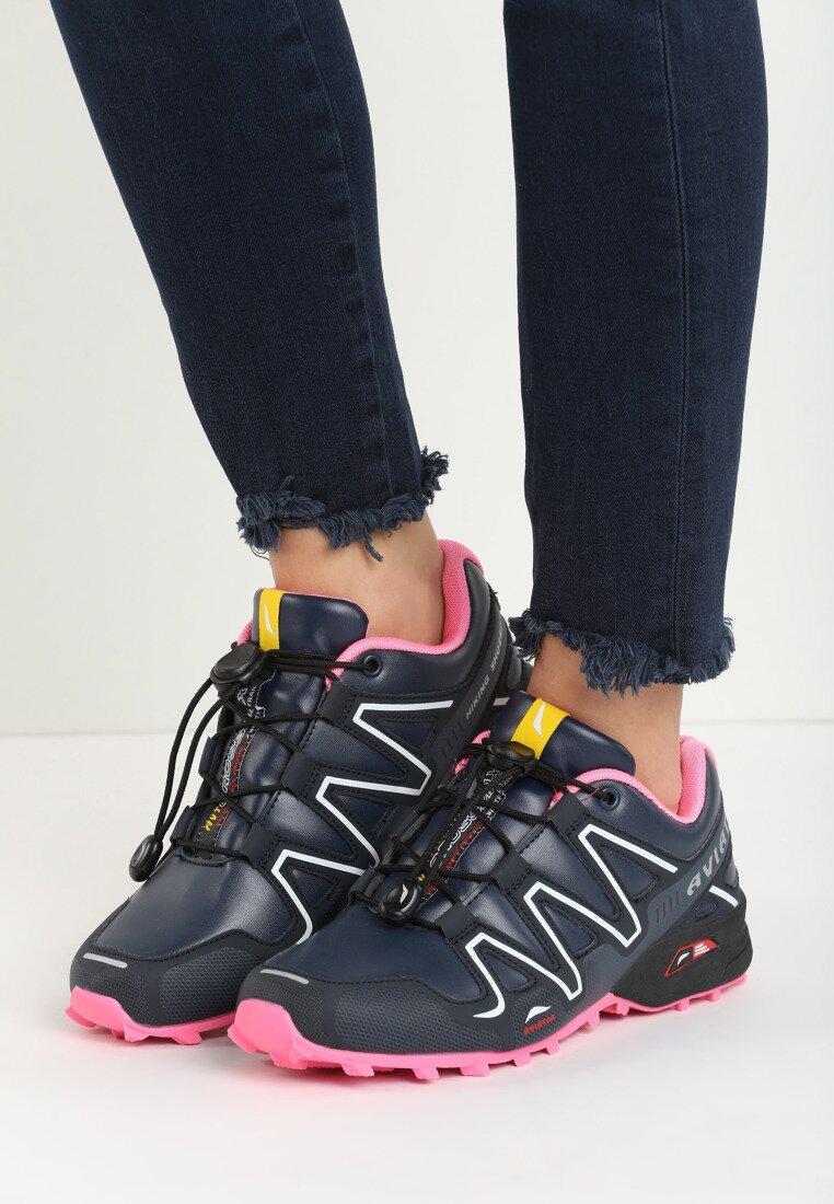 Granatowo-Różowe Buty Sportowe Cybercore