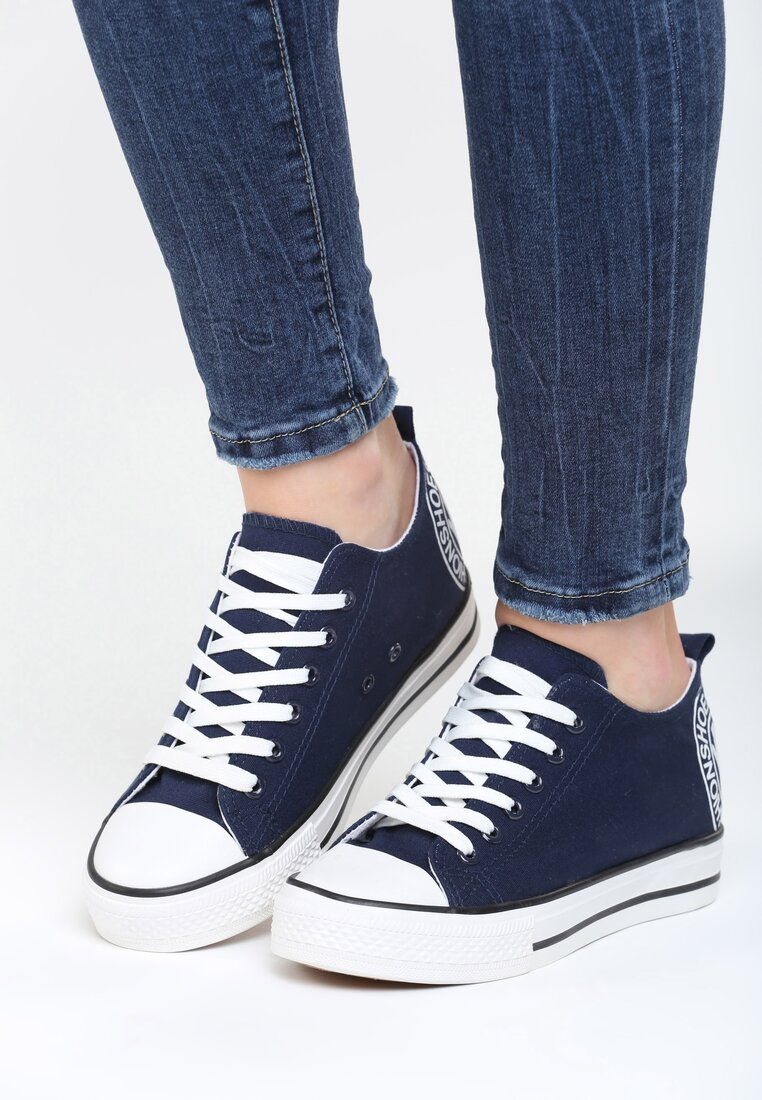 Granatowe Sneakersy Luckiest